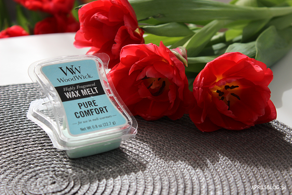 woodwick pure comfort, wosk zapachowy woodwick