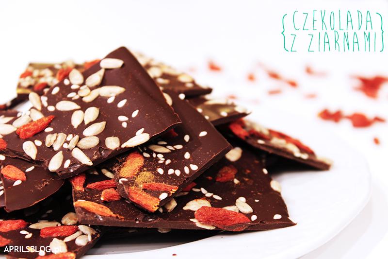 gorzka czekolada w płatkach